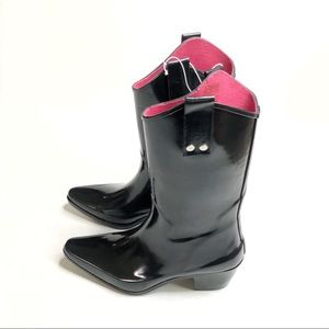 Capelli of New York   Pointy Toe Heel Rubber Boots